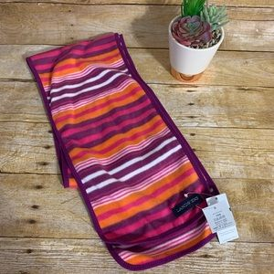 Lands' End thermacheck OS striped fleece scarf